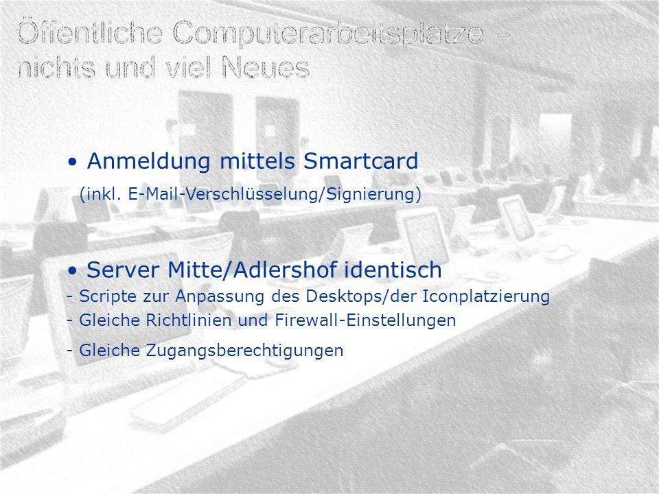 Anmeldung mittels Smartcard