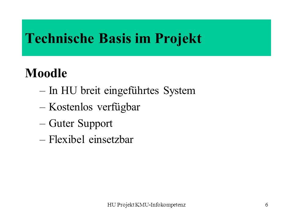 Technische Basis im Projekt