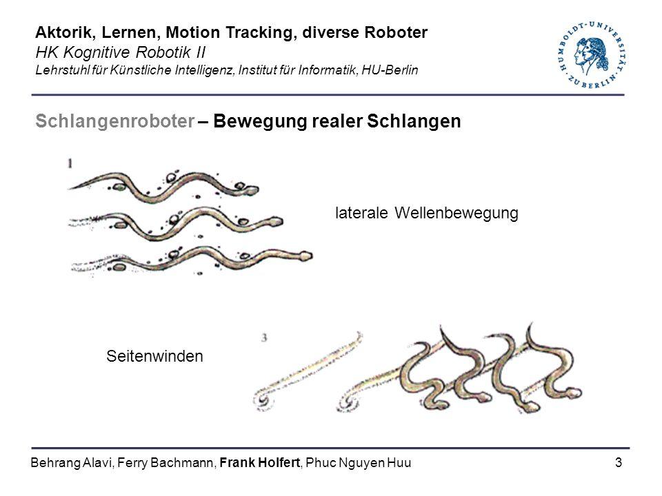 Schlangenroboter – Bewegung realer Schlangen