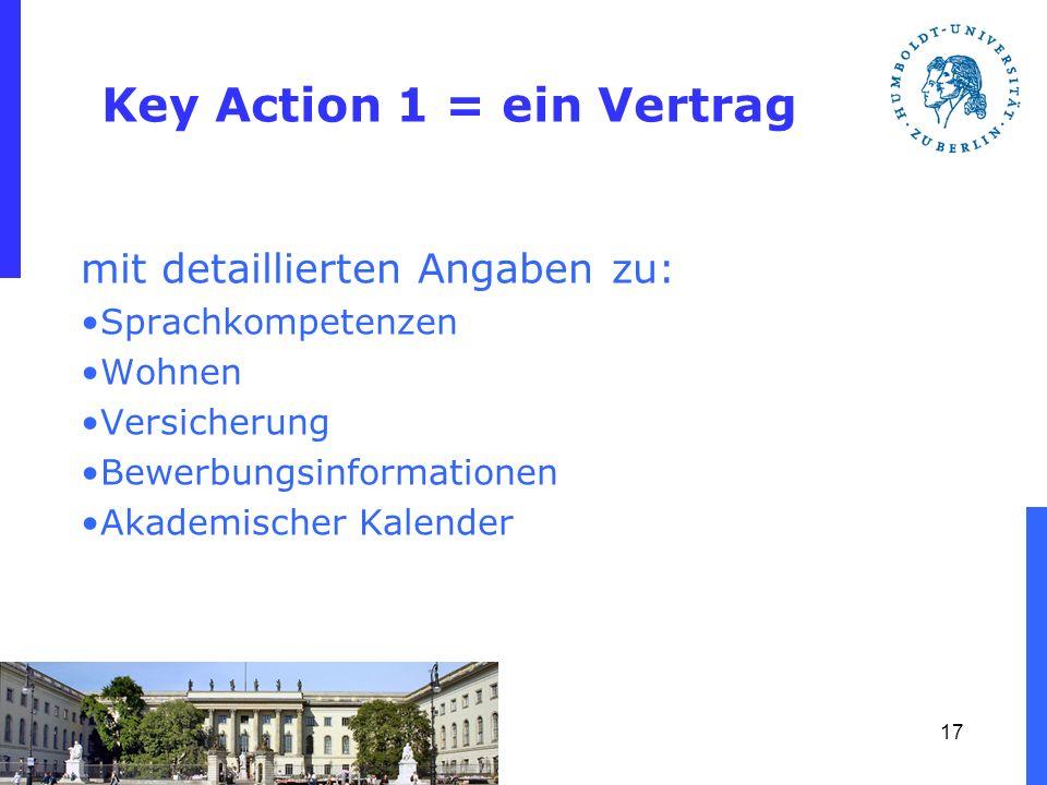 Key Action 1 = ein Vertrag
