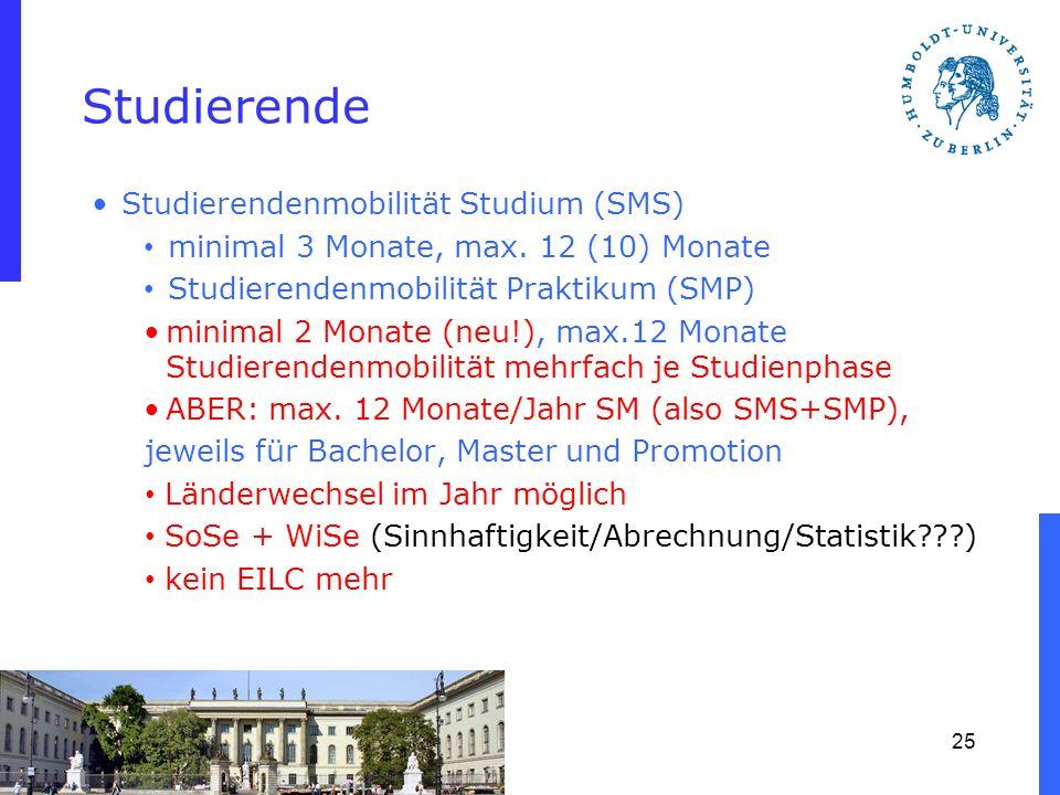 Studierende Studierendenmobilität Studium (SMS)