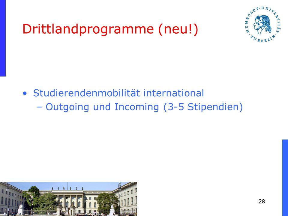 Drittlandprogramme (neu!)