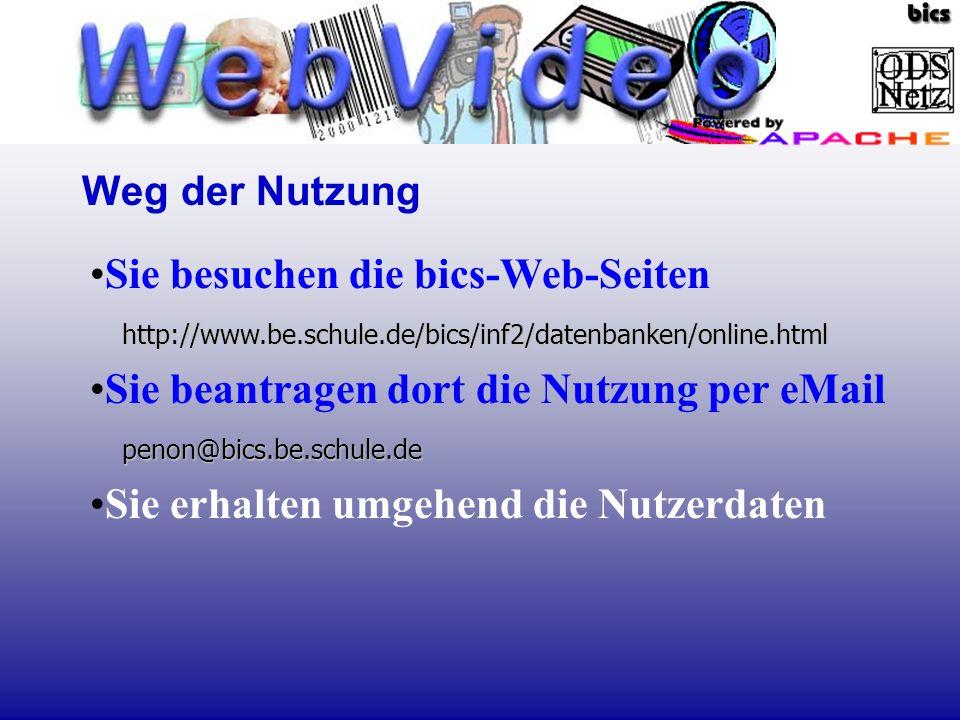 Sie beantragen dort die Nutzung per eMail penon@bics.be.schule.de