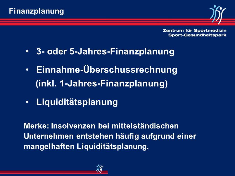 3- oder 5-Jahres-Finanzplanung Einnahme-Überschussrechnung