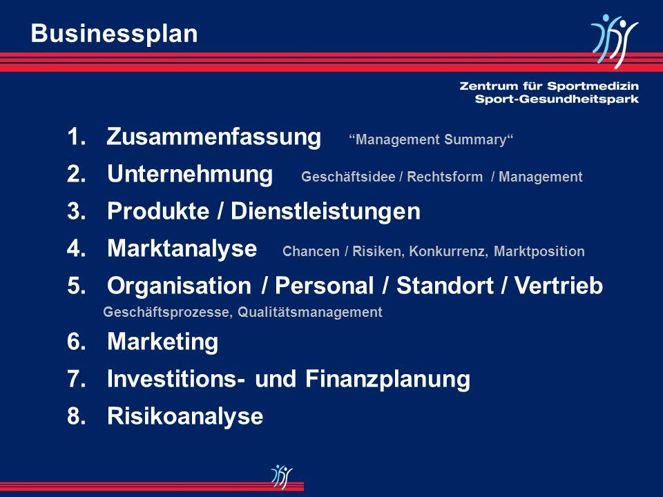 Businessplan 1. Zusammenfassung Management Summary