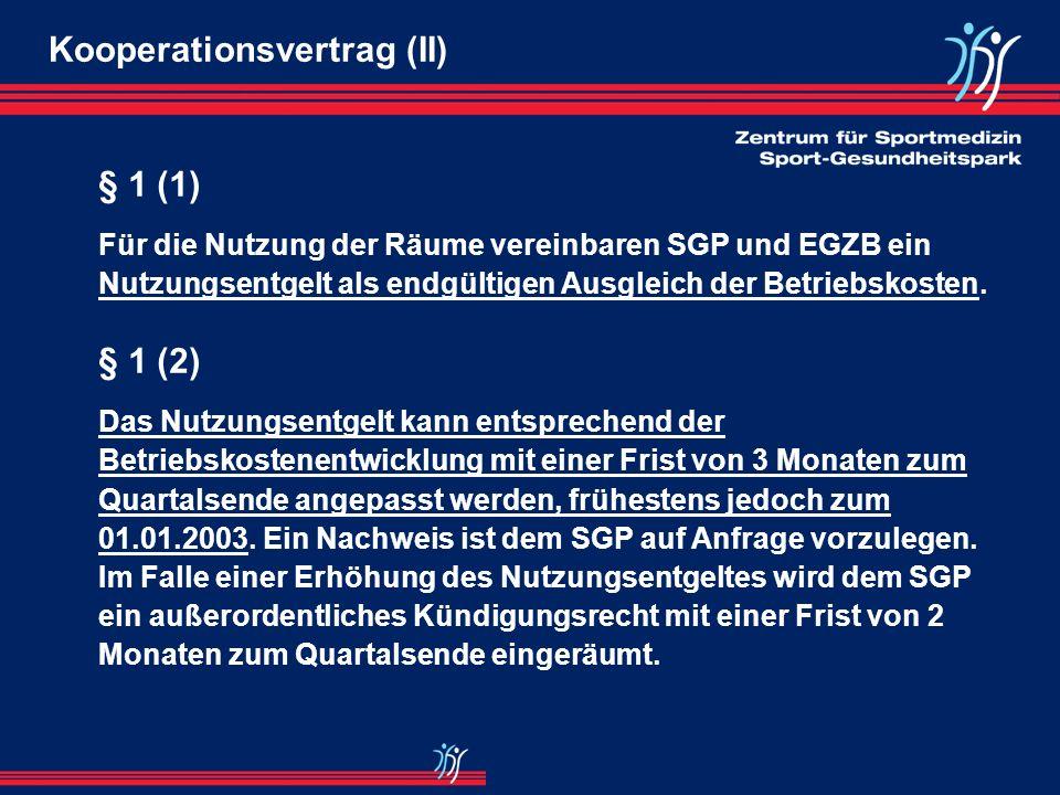 Kooperationsvertrag (II)