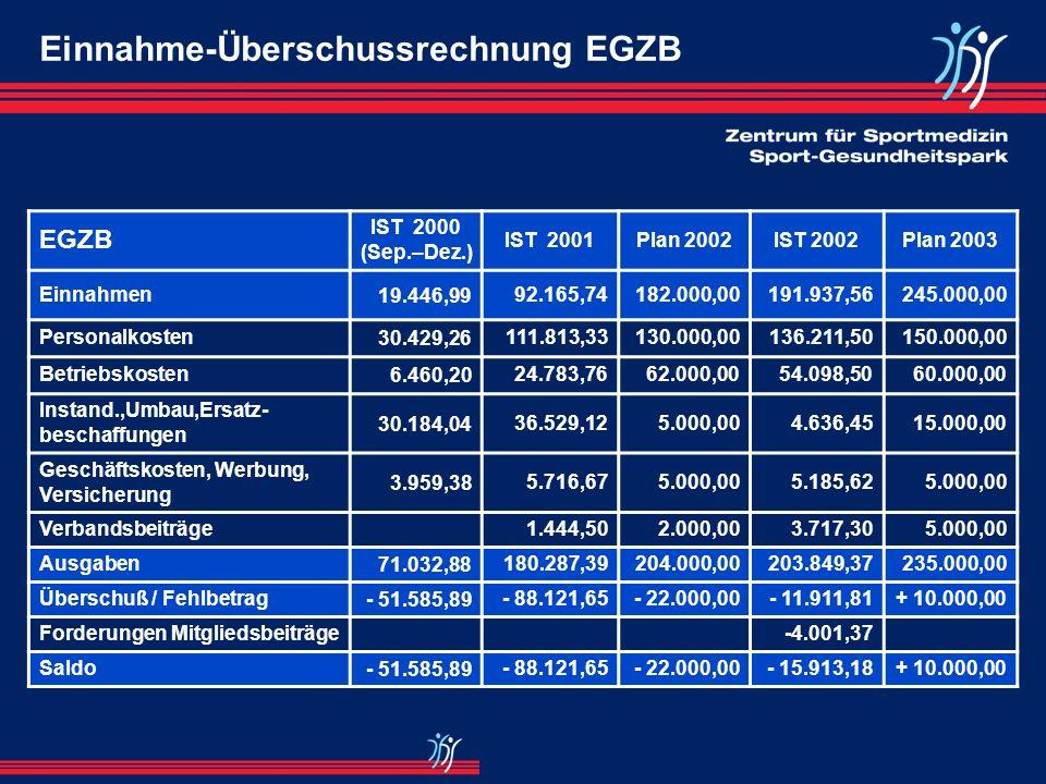 Einnahme-Überschussrechnung EGZB