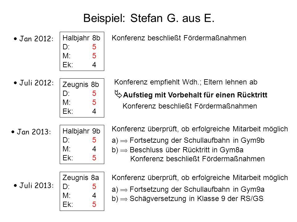 Beispiel: Stefan G. aus E.