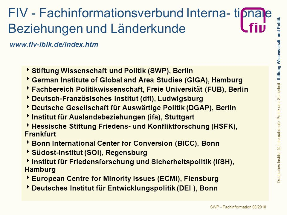 SWP - Fachinformation 06/2010
