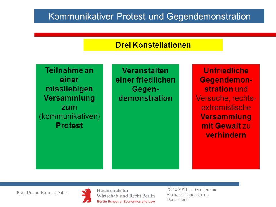Veranstalten einer friedlichen Gegen-demonstration