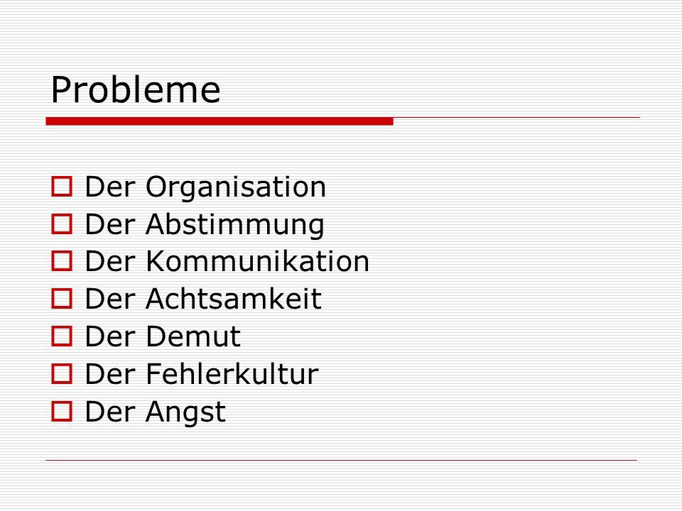 Probleme Der Organisation Der Abstimmung Der Kommunikation
