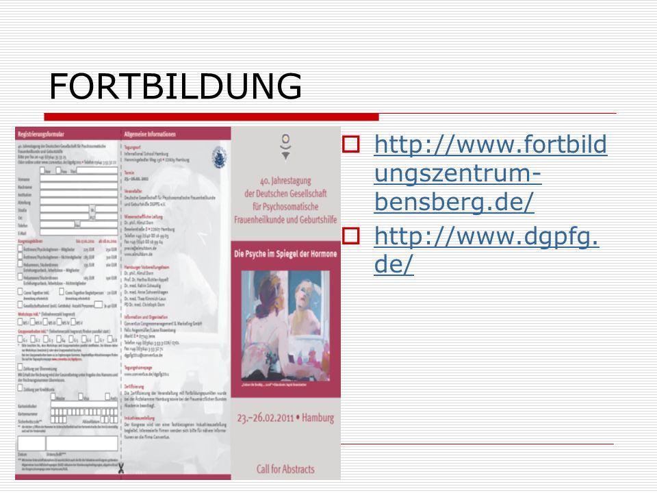 FORTBILDUNG http://www.fortbildungszentrum-bensberg.de/