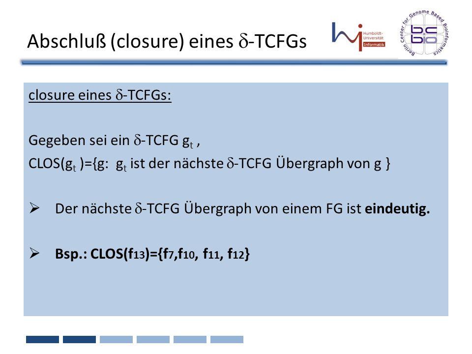 Abschluß (closure) eines d-TCFGs