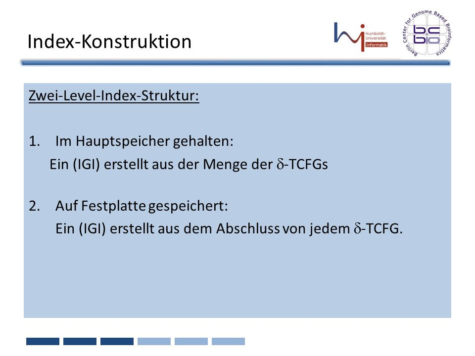 Index-Konstruktion Zwei-Level-Index-Struktur:
