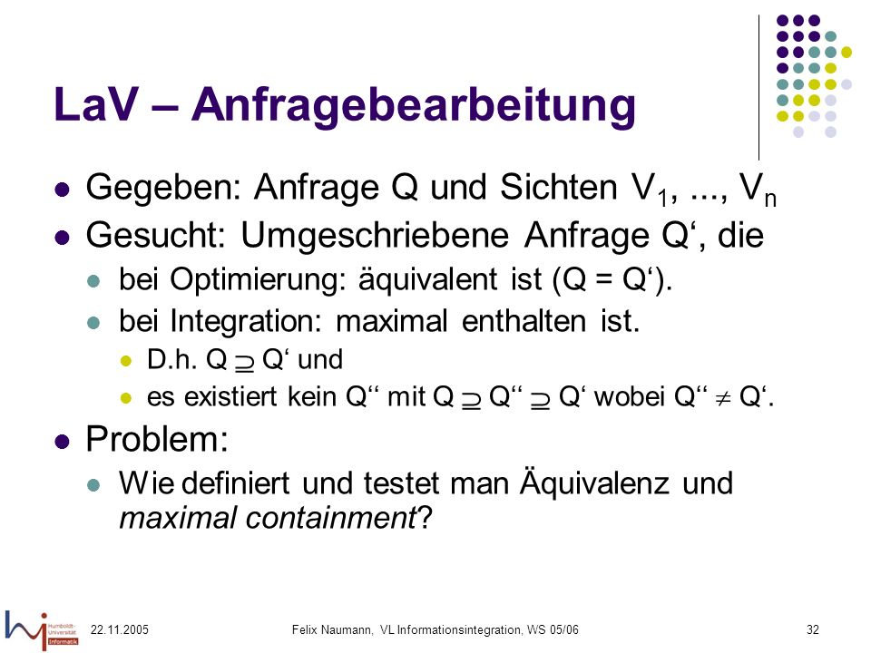 LaV – Anfragebearbeitung