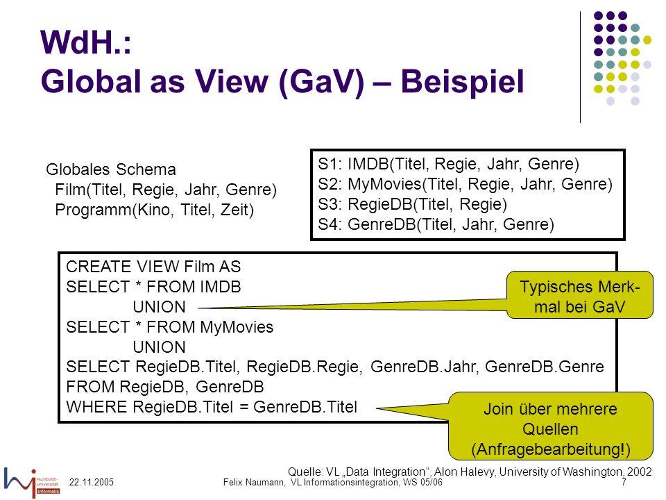 WdH.: Global as View (GaV) – Beispiel