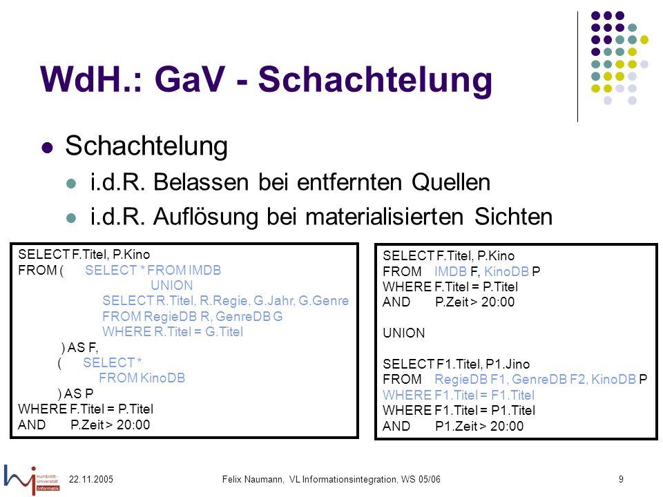 WdH.: GaV - Schachtelung
