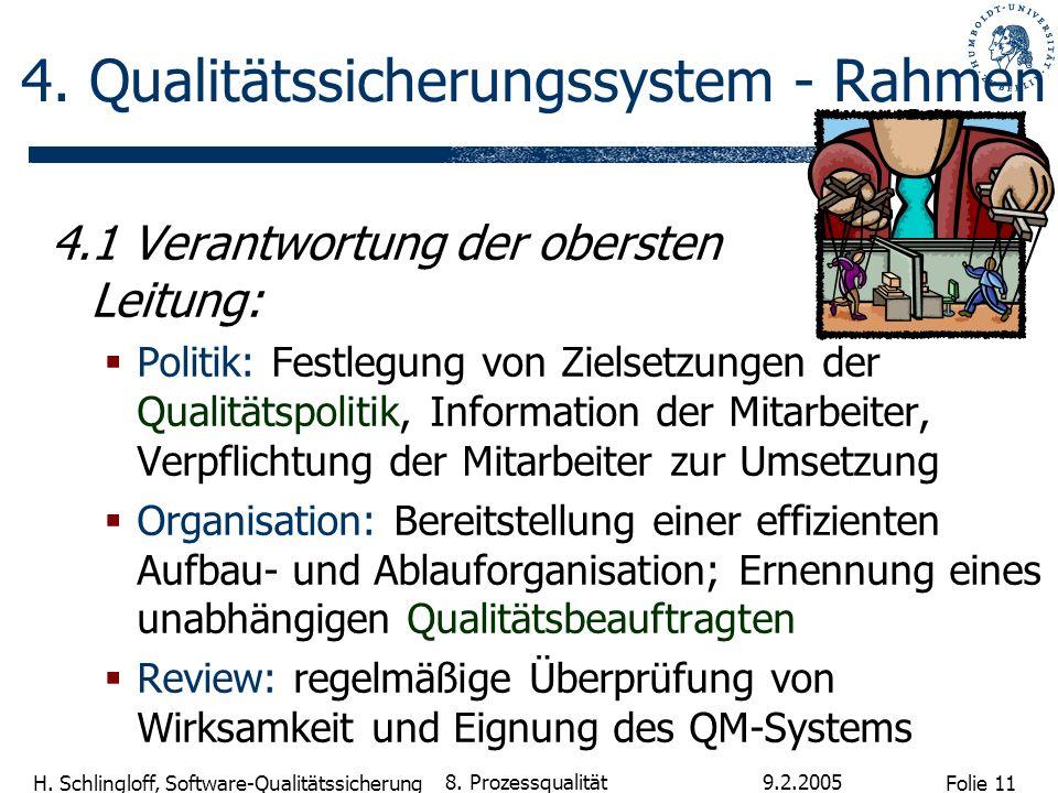 4. Qualitätssicherungssystem - Rahmen