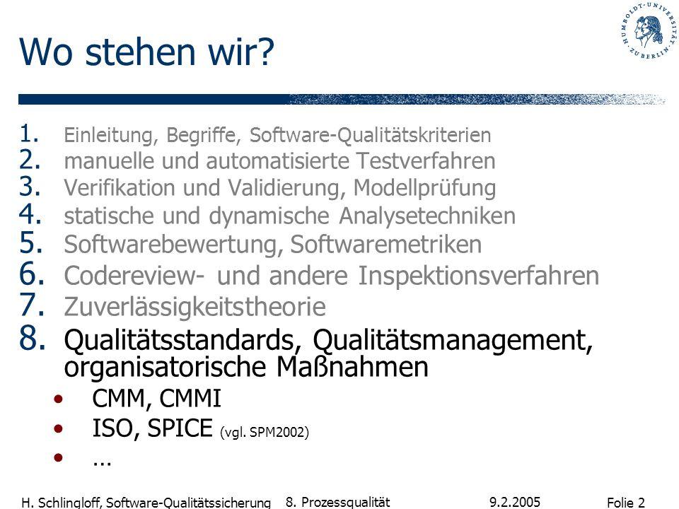 Wo stehen wir Einleitung, Begriffe, Software-Qualitätskriterien. manuelle und automatisierte Testverfahren.