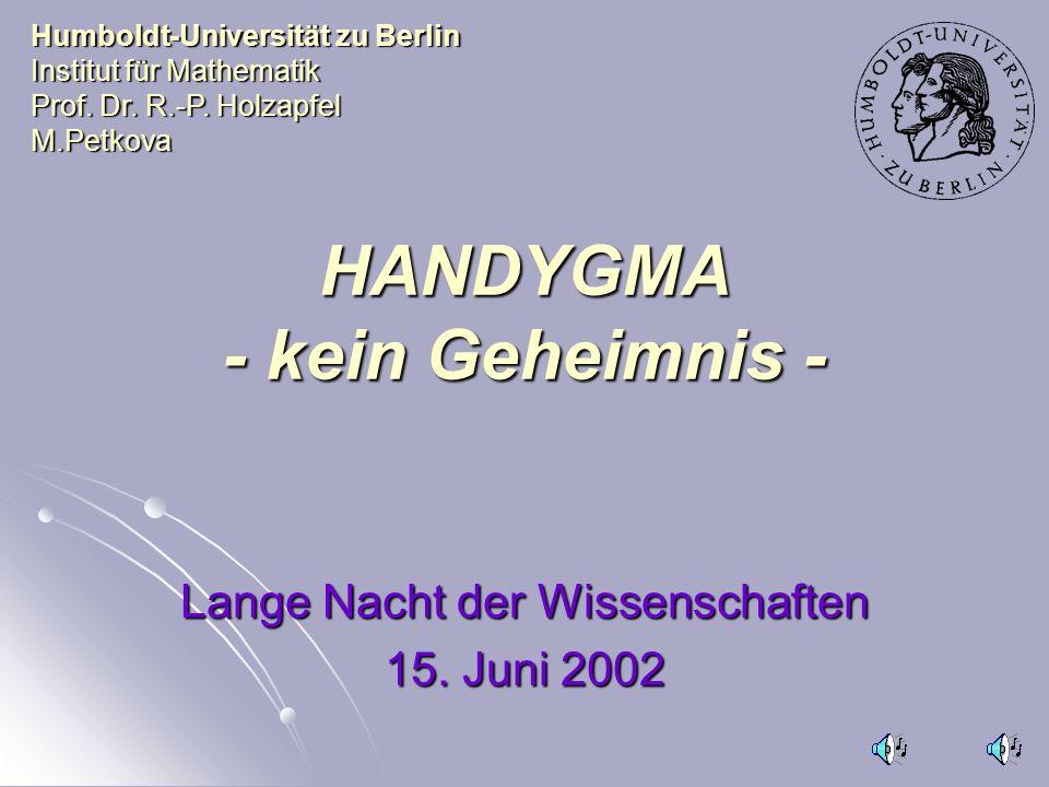 HANDYGMA - kein Geheimnis -