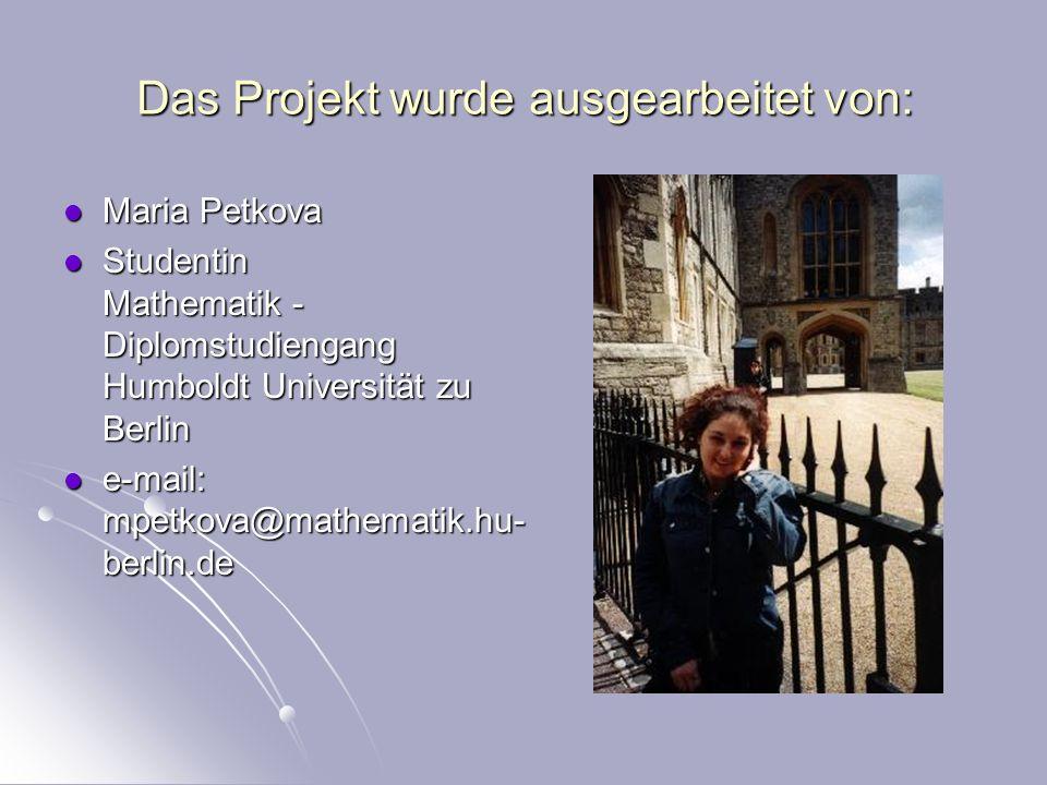 Das Projekt wurde ausgearbeitet von: