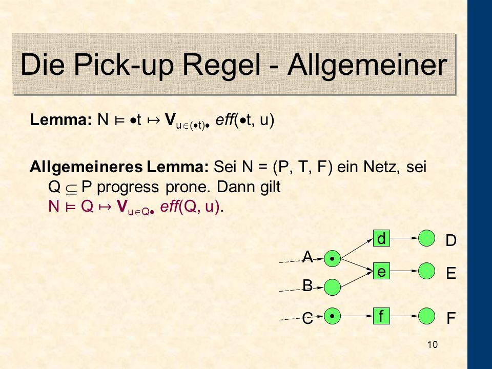 Die Pick-up Regel - Allgemeiner