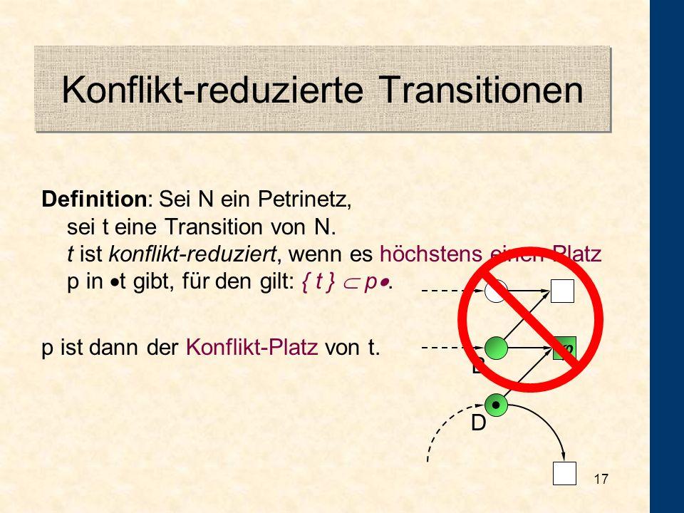 Konflikt-reduzierte Transitionen