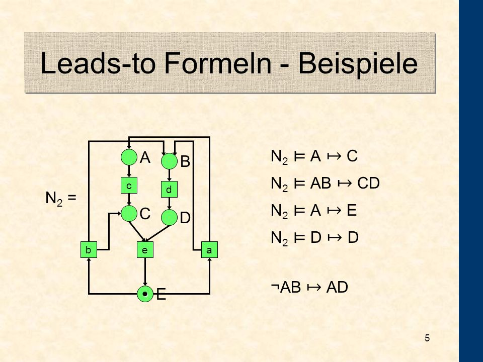 Leads-to Formeln - Beispiele