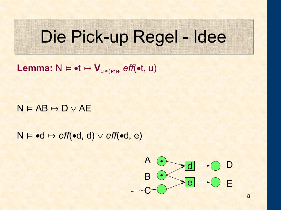 Die Pick-up Regel - Idee