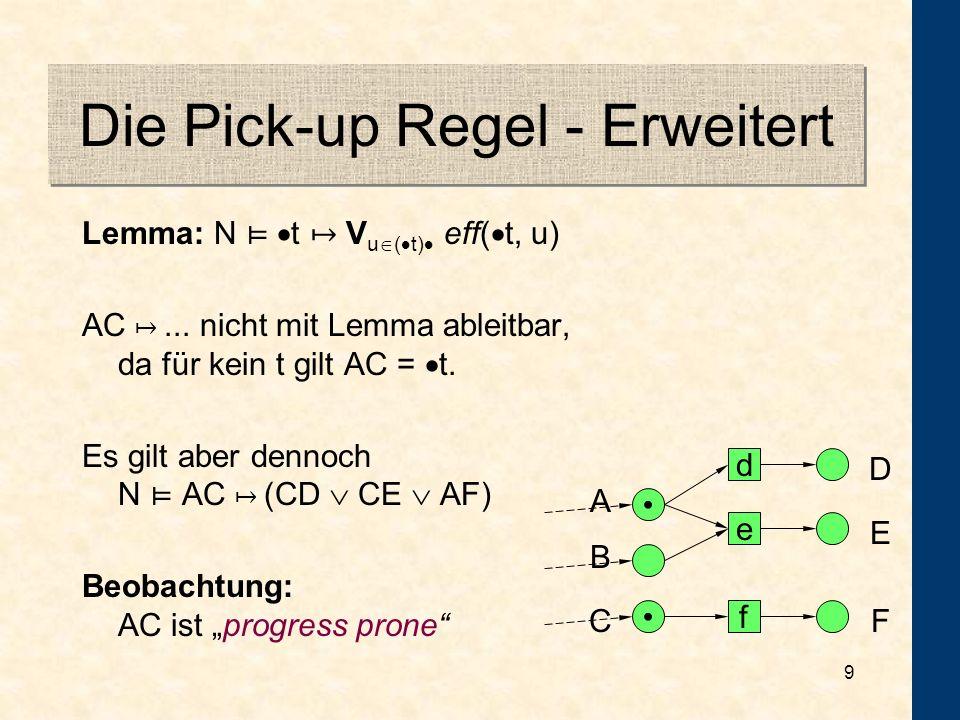 Die Pick-up Regel - Erweitert