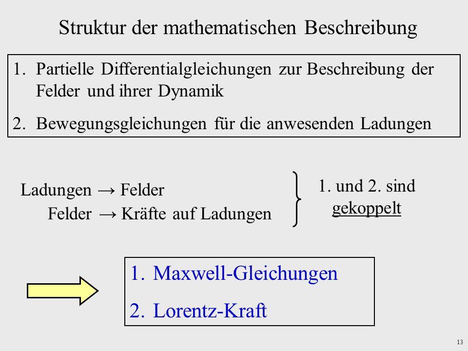 Struktur der mathematischen Beschreibung