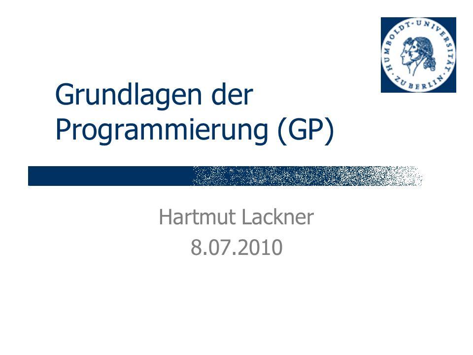 Grundlagen der Programmierung (GP)