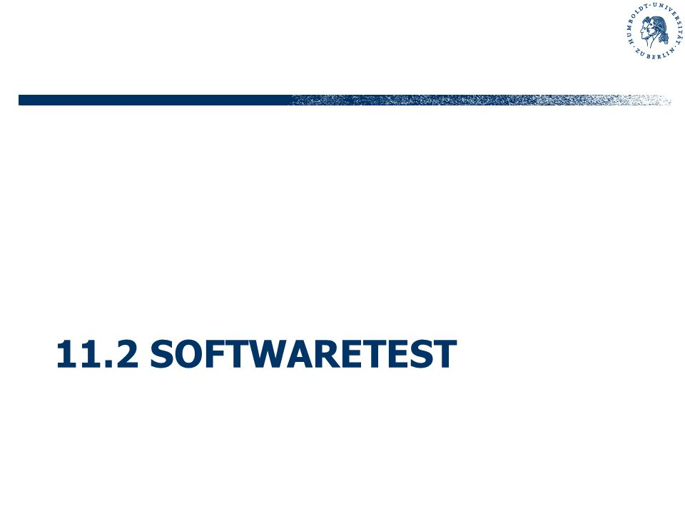 11.2 Softwaretest