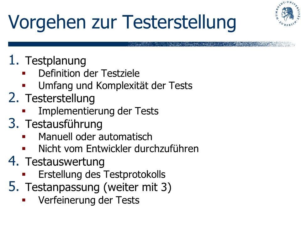 Vorgehen zur Testerstellung