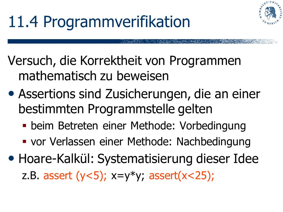 11.4 Programmverifikation
