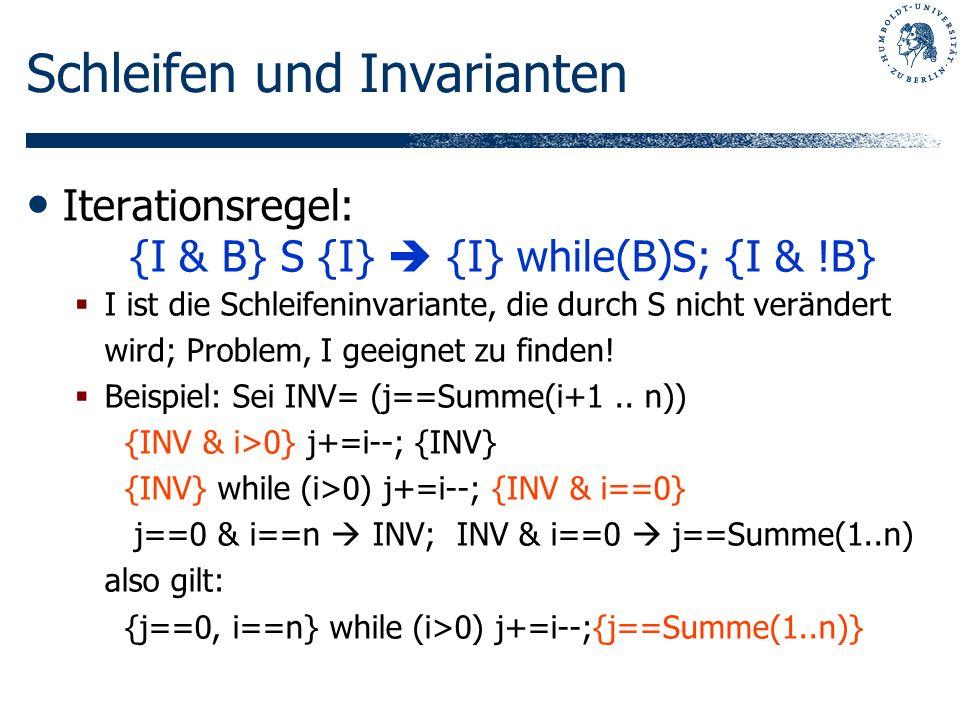 Schleifen und Invarianten
