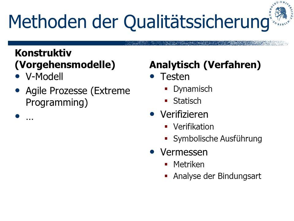 Methoden der Qualitätssicherung