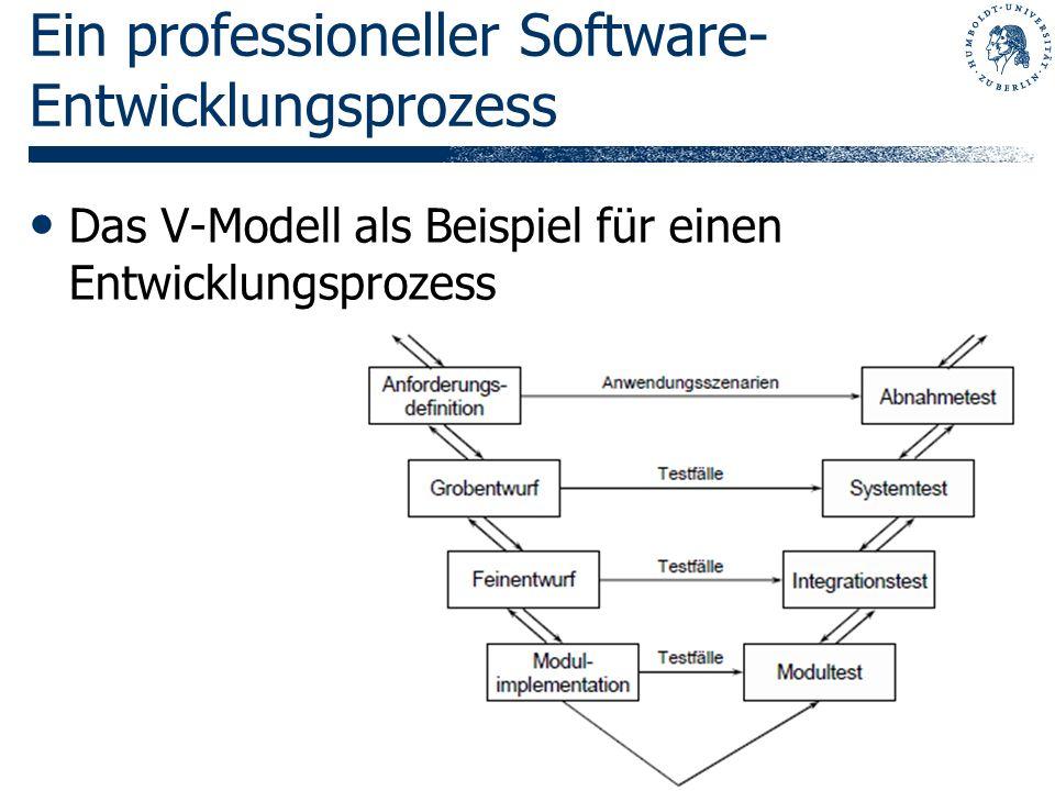 Ein professioneller Software-Entwicklungsprozess