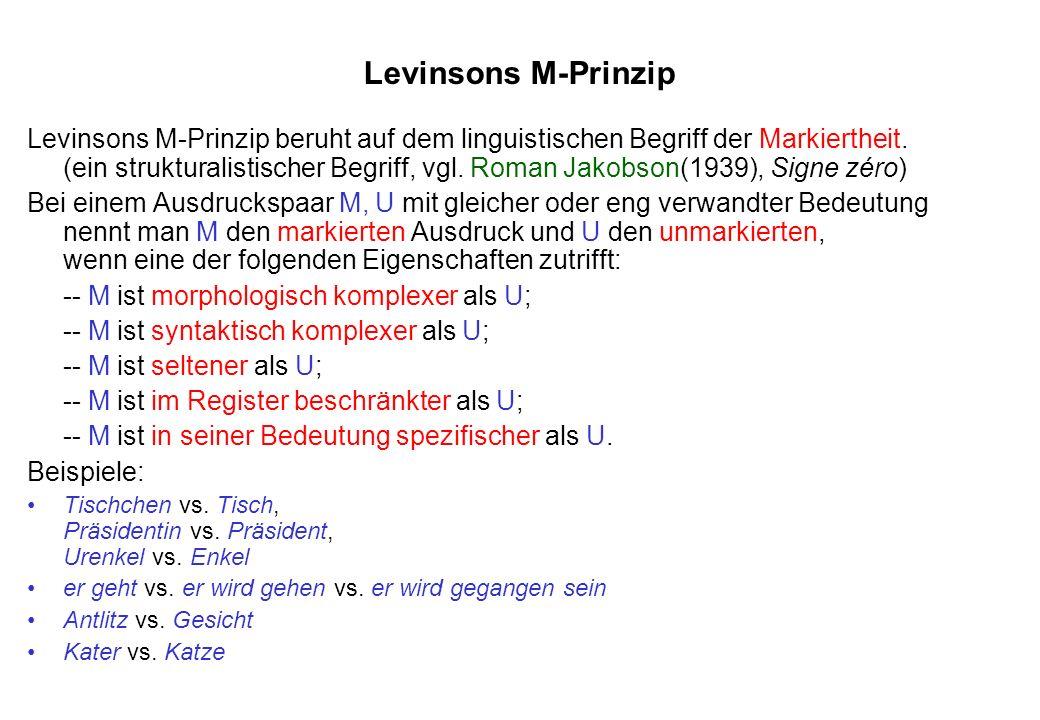Levinsons M-Prinzip