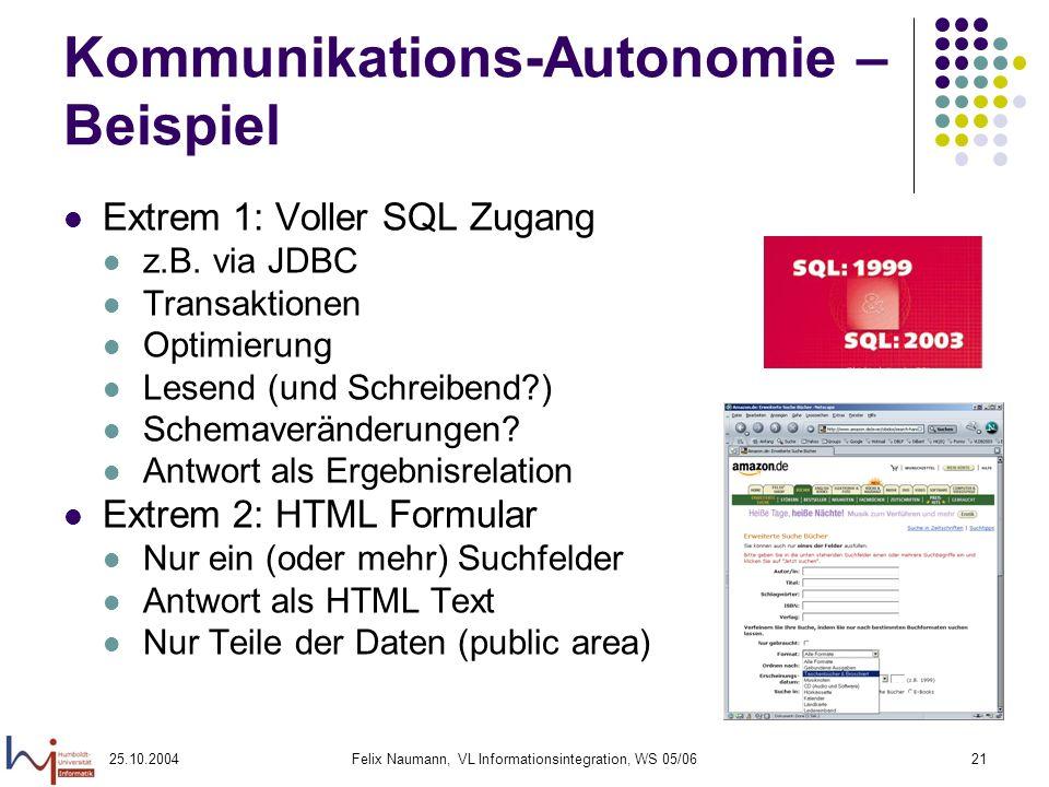 Kommunikations-Autonomie – Beispiel