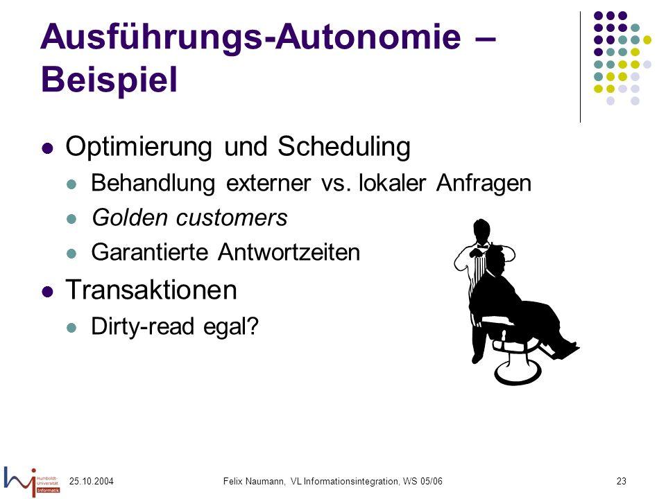 Ausführungs-Autonomie – Beispiel
