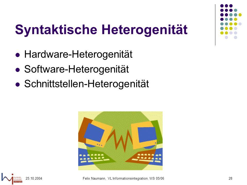 Syntaktische Heterogenität