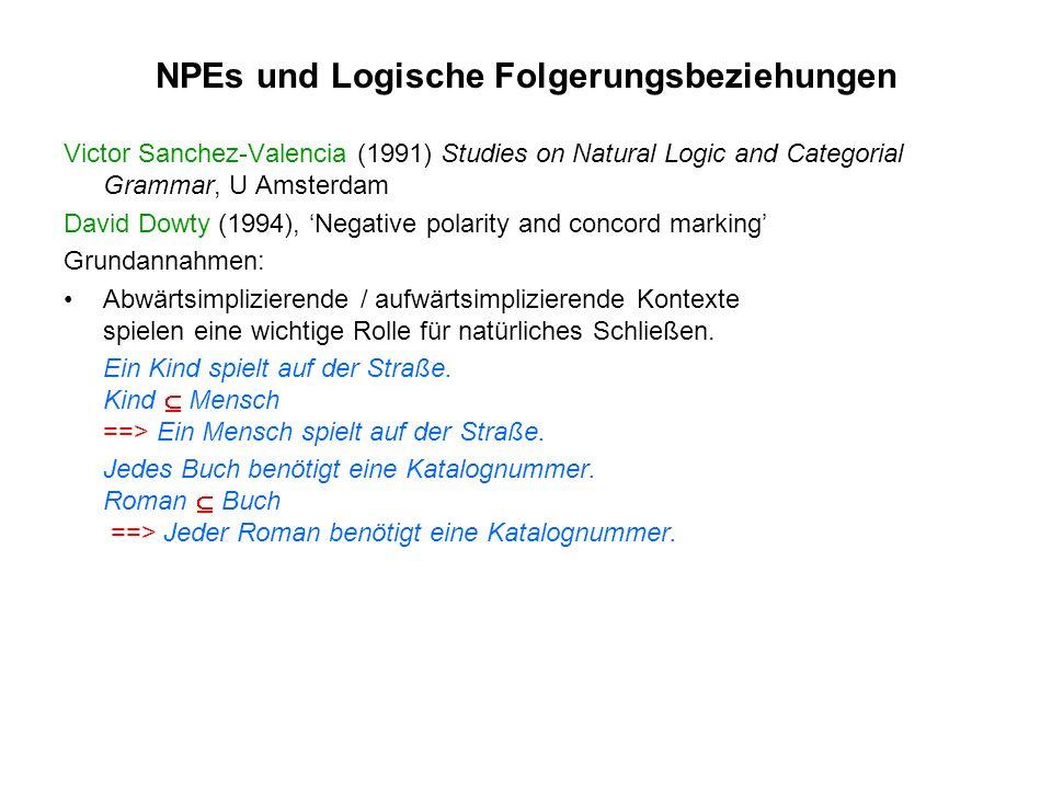 NPEs und Logische Folgerungsbeziehungen