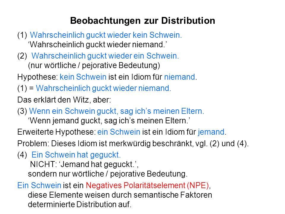 Beobachtungen zur Distribution