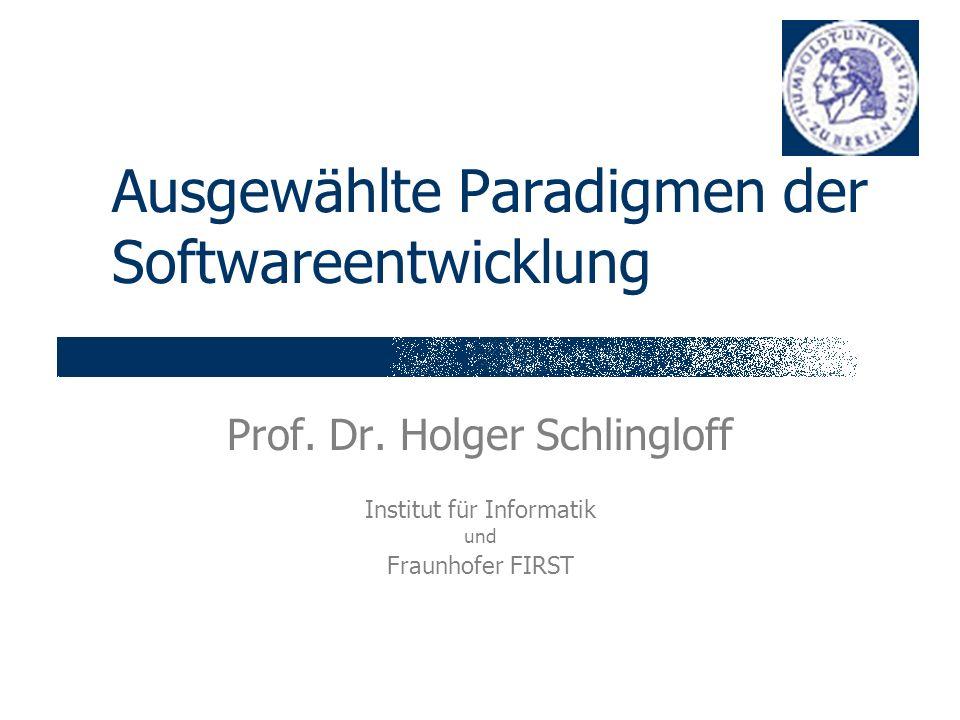 Ausgewählte Paradigmen der Softwareentwicklung