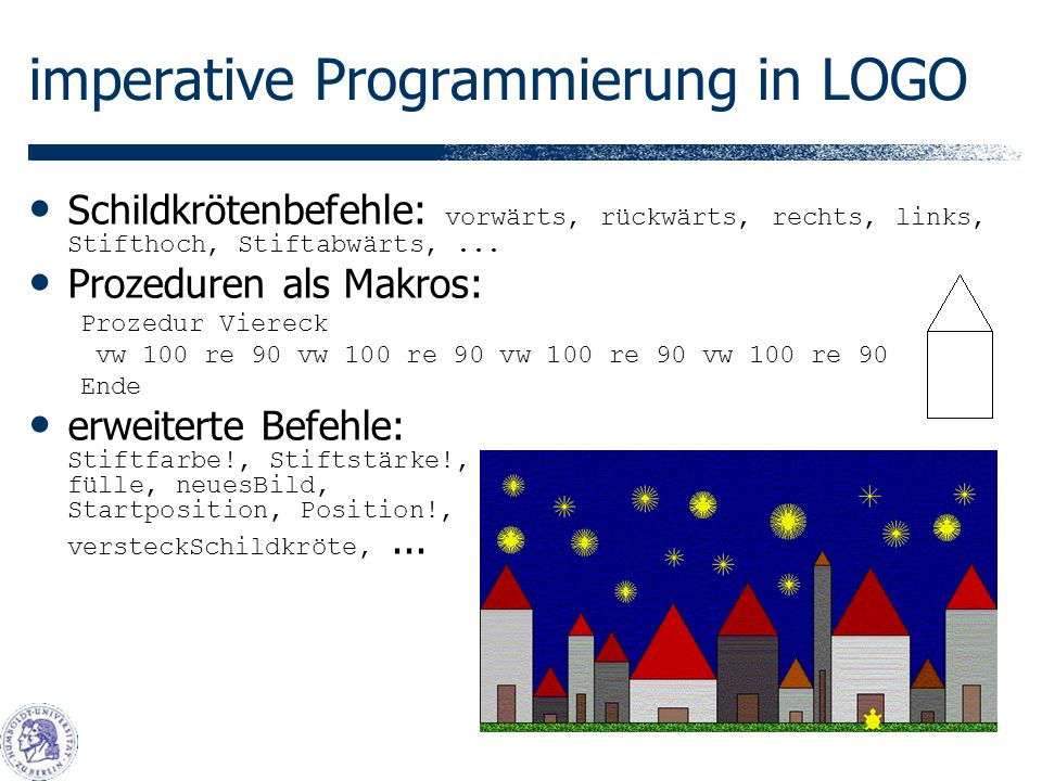 imperative Programmierung in LOGO