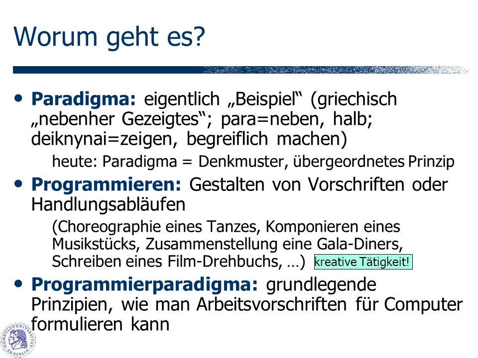 """Worum geht es Paradigma: eigentlich """"Beispiel (griechisch """"nebenher Gezeigtes ; para=neben, halb; deiknynai=zeigen, begreiflich machen)"""