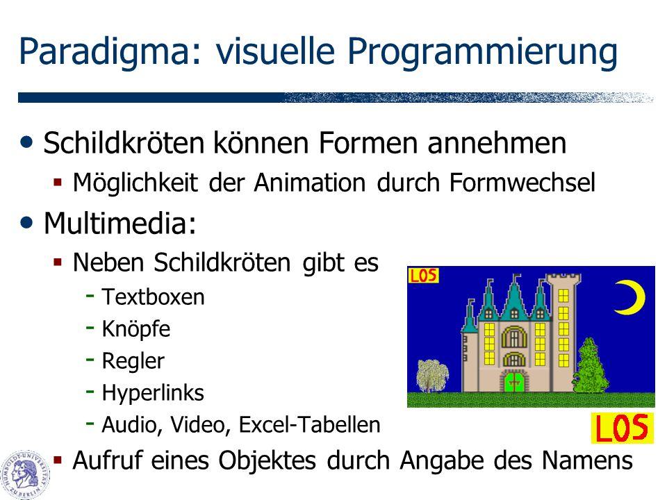 Paradigma: visuelle Programmierung