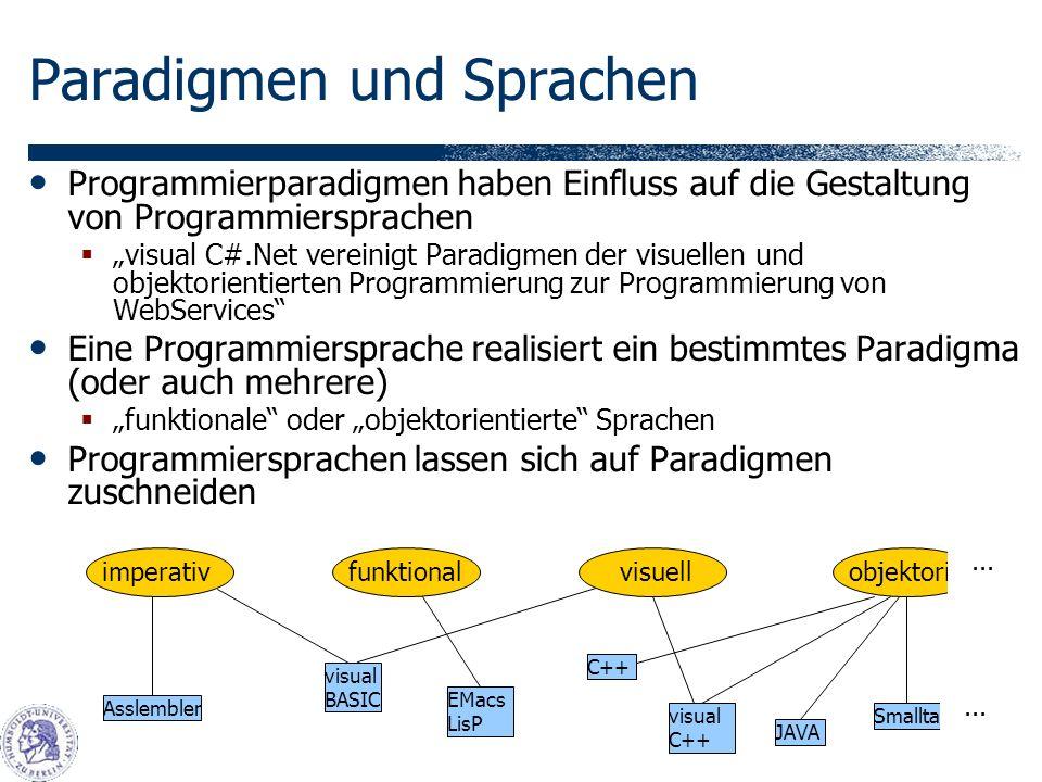 Paradigmen und Sprachen