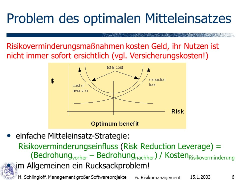 Problem des optimalen Mitteleinsatzes